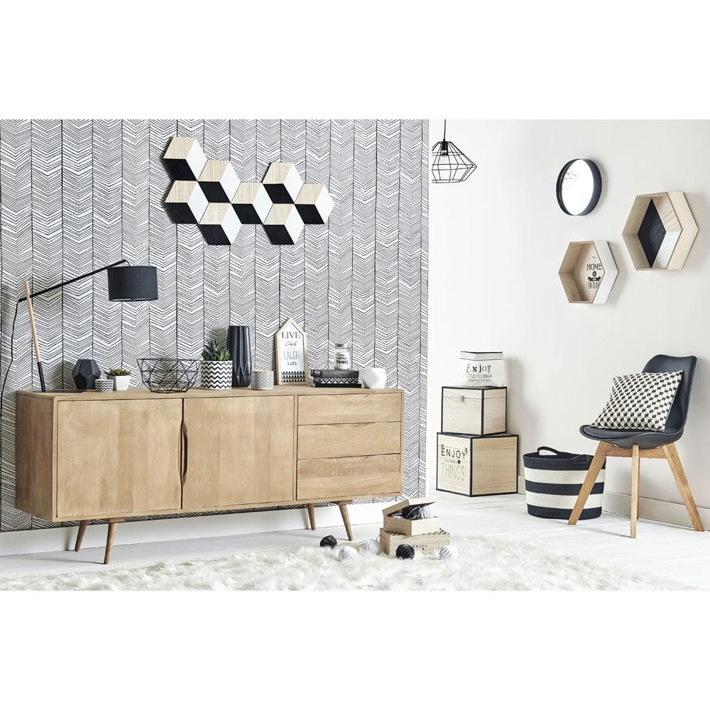 buffet enfilade vintage en manguier trocadero maisons du. Black Bedroom Furniture Sets. Home Design Ideas