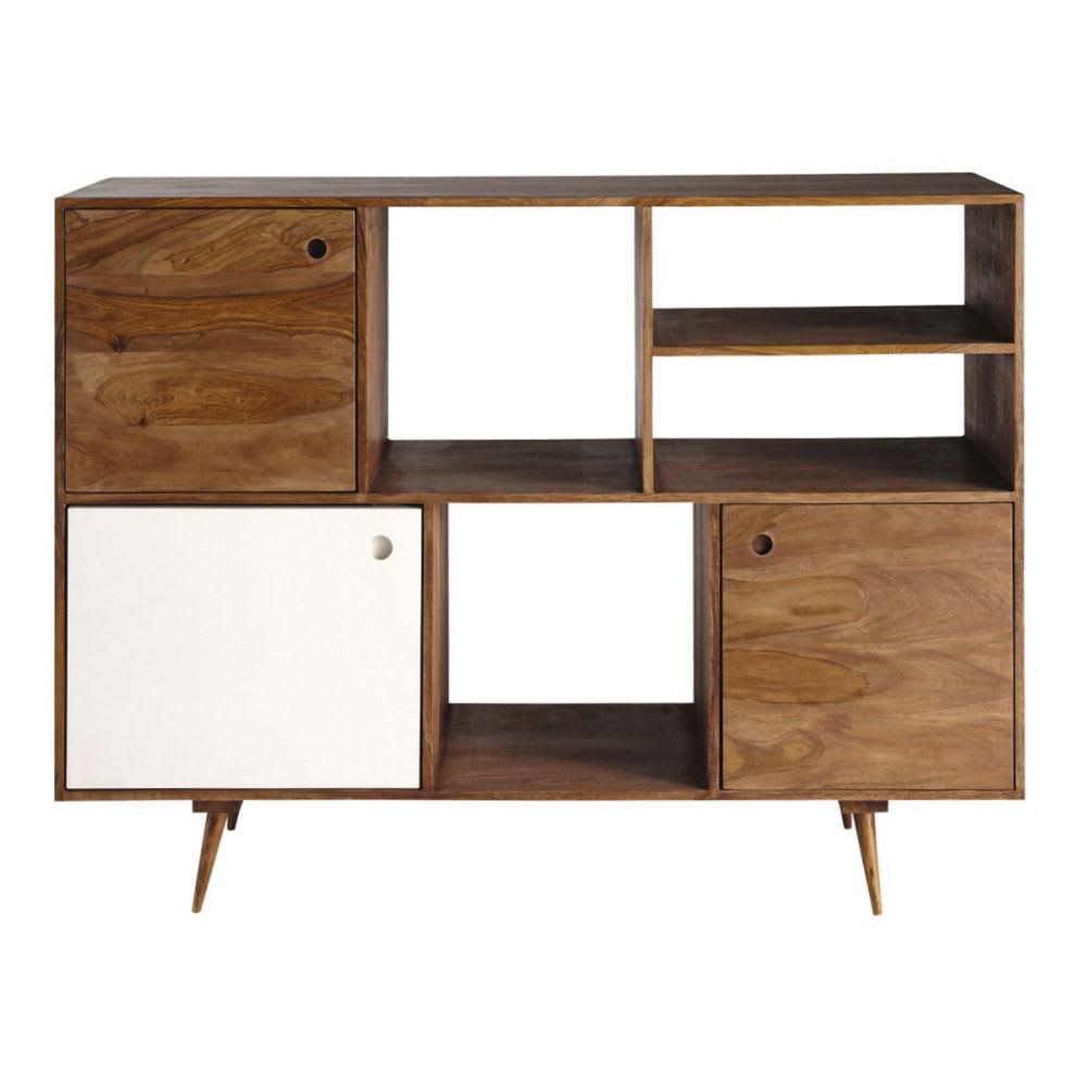 buffet vintage en bois de sheesham andersen maisons du monde. Black Bedroom Furniture Sets. Home Design Ideas