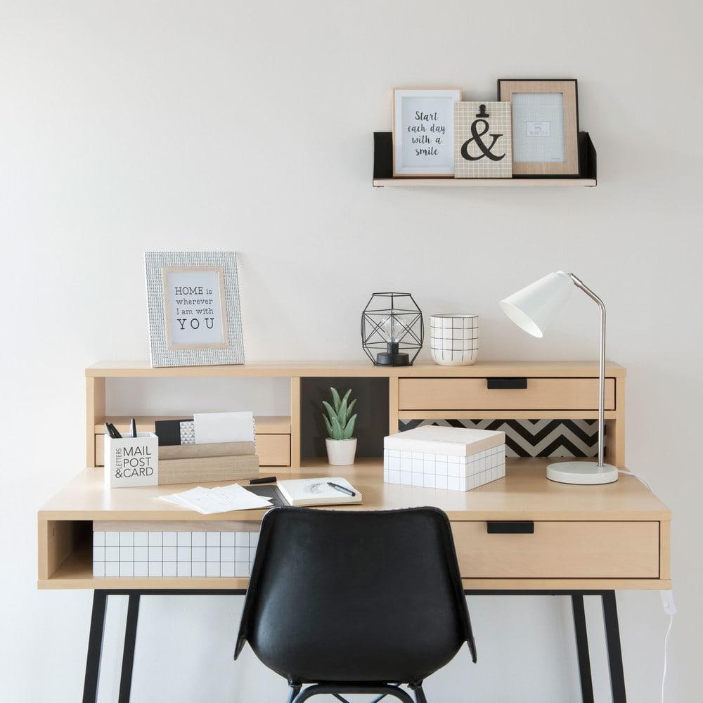 bureau 3 tiroirs graphik maisons du monde. Black Bedroom Furniture Sets. Home Design Ideas