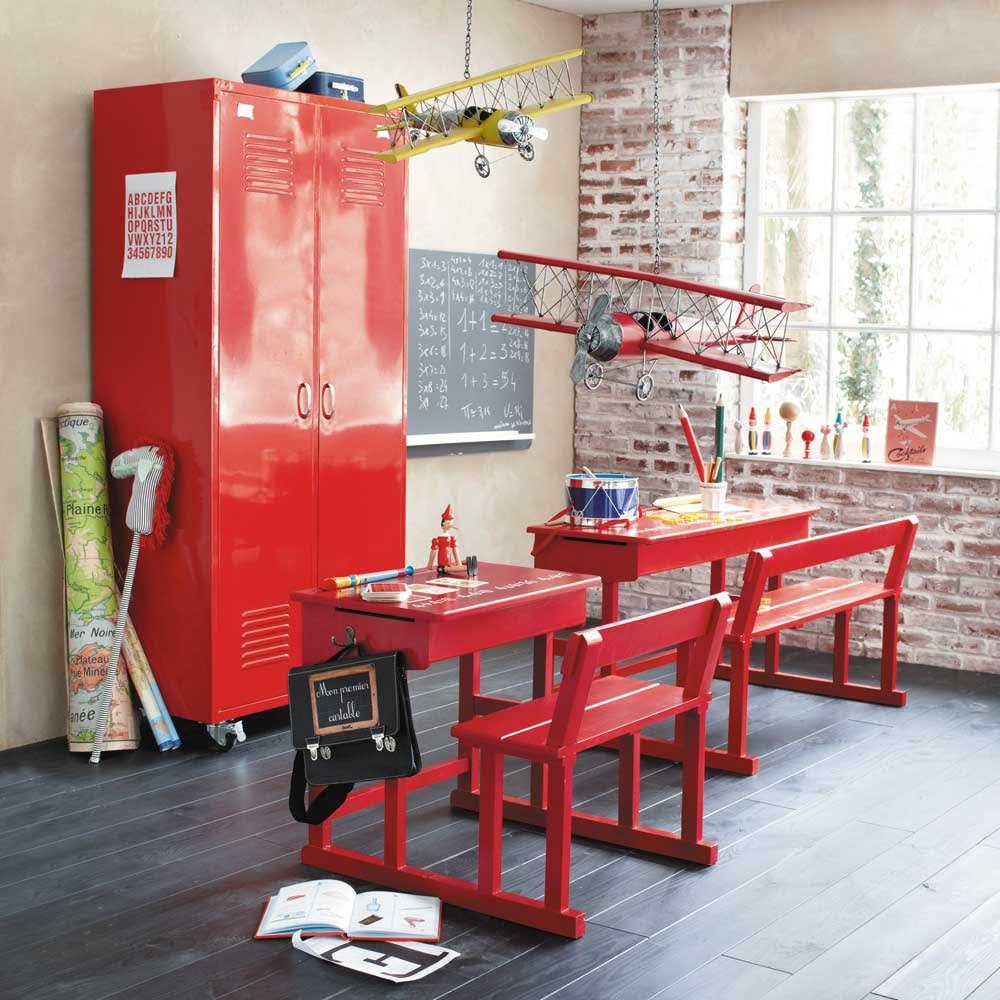 bureau pupitre enfant rouge pupitre maisons du monde. Black Bedroom Furniture Sets. Home Design Ideas