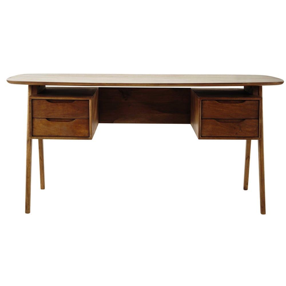 bureau vintage en manguier janeiro maisons du monde. Black Bedroom Furniture Sets. Home Design Ideas