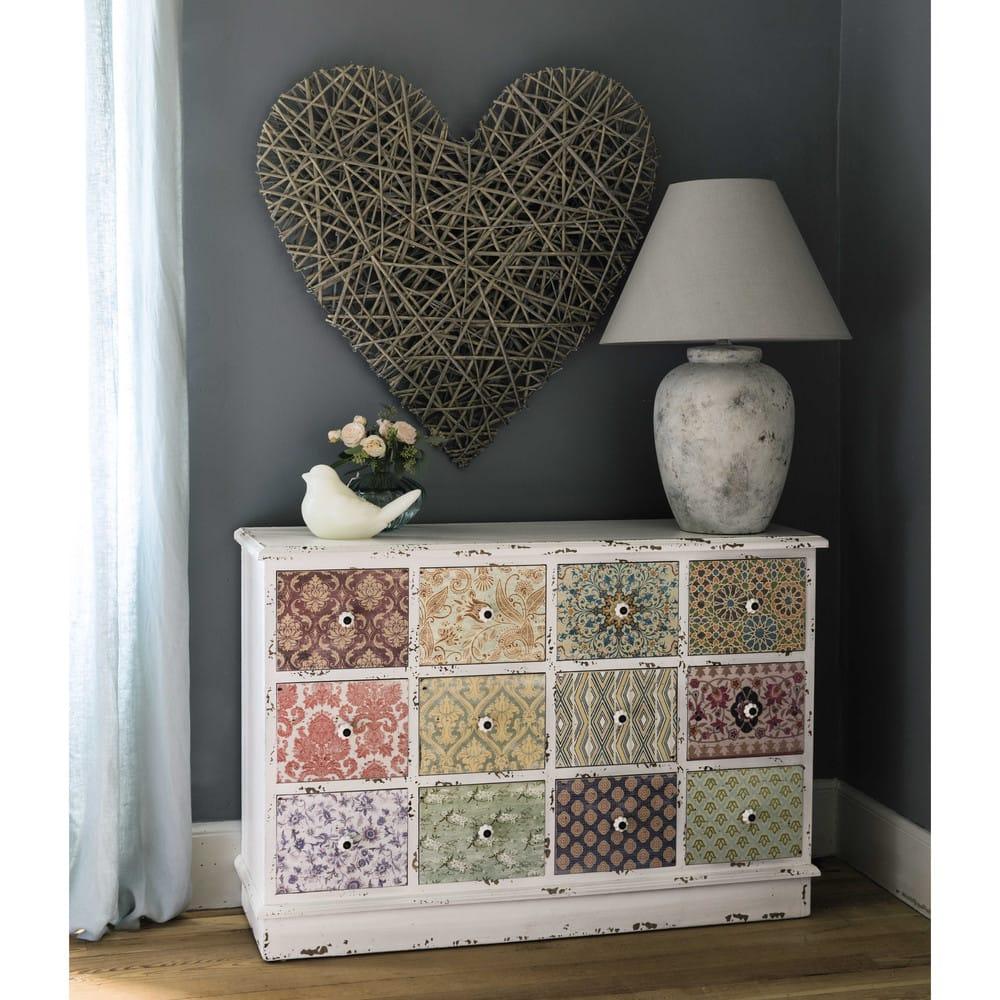 cabinet de rangement 12 tiroirs blanc cass c lestine. Black Bedroom Furniture Sets. Home Design Ideas