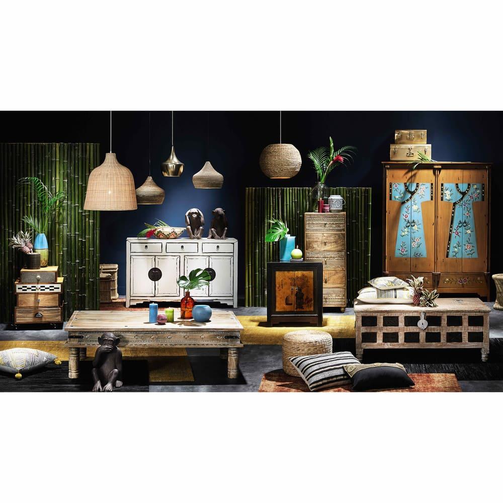 Cabinet de rangement en bois recyclé L 60 cm Shanghaï | Maisons du Monde