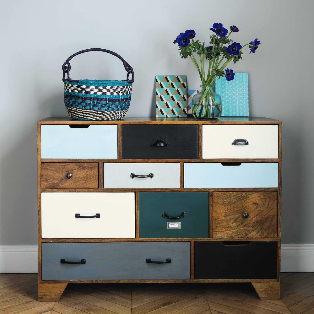 cabinet de rangement vintage en manguier massif l 114 cm picadilly maisons du monde. Black Bedroom Furniture Sets. Home Design Ideas
