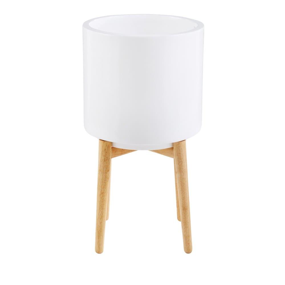 cache pot en c ramique blanche h60 paulo maisons du monde. Black Bedroom Furniture Sets. Home Design Ideas
