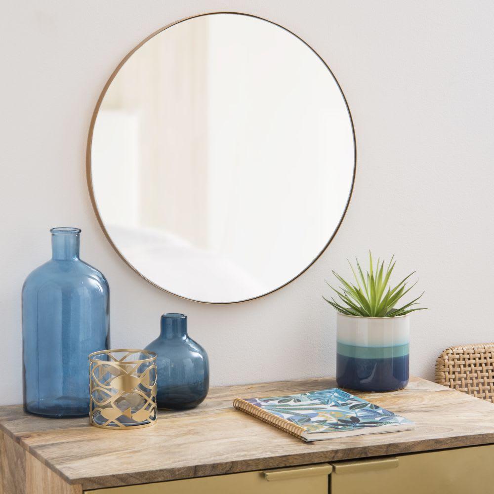 cache pot en c ramique bleu d grad h13 maisons du monde. Black Bedroom Furniture Sets. Home Design Ideas