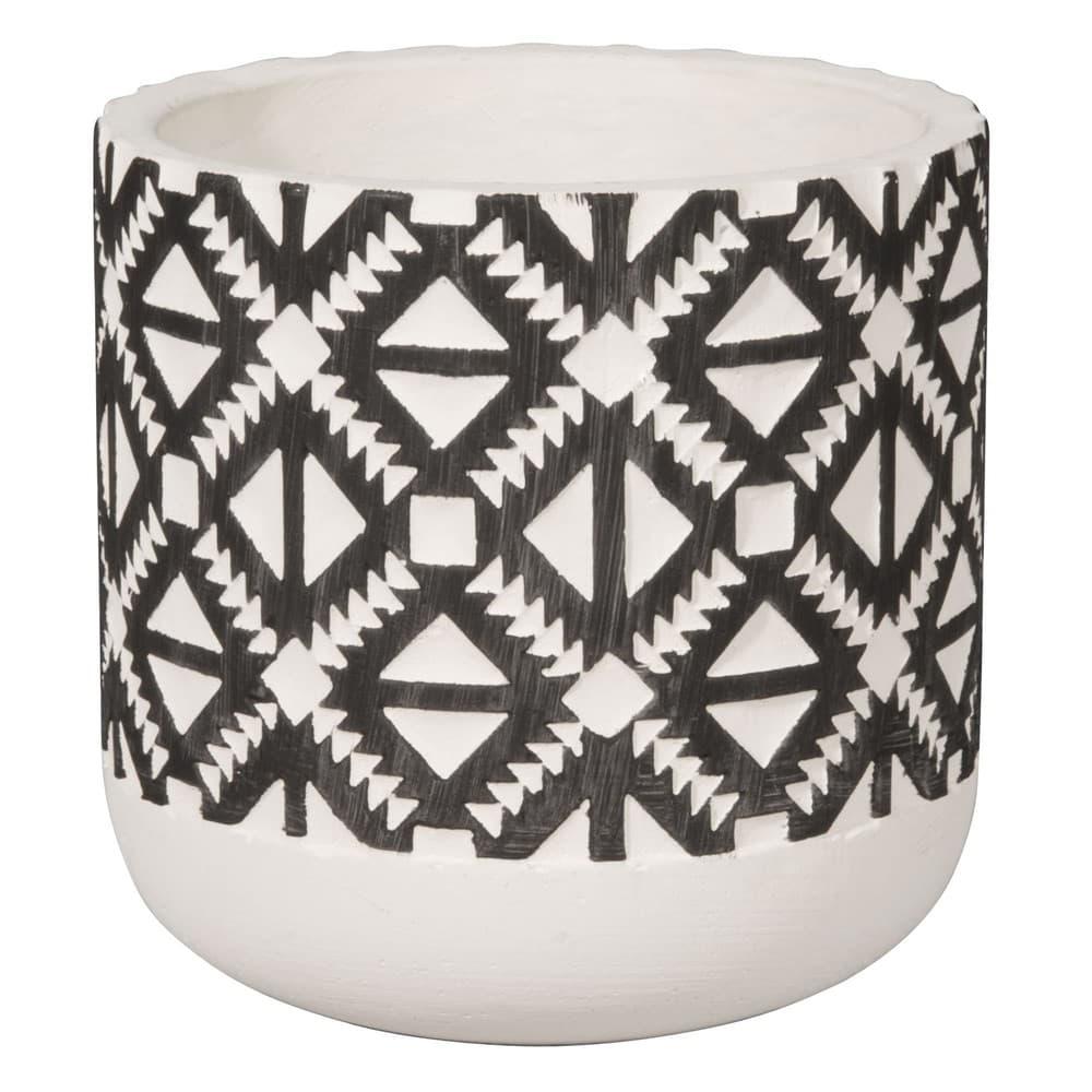 cache pot en c ramique motifs ethniques h13 piquant. Black Bedroom Furniture Sets. Home Design Ideas