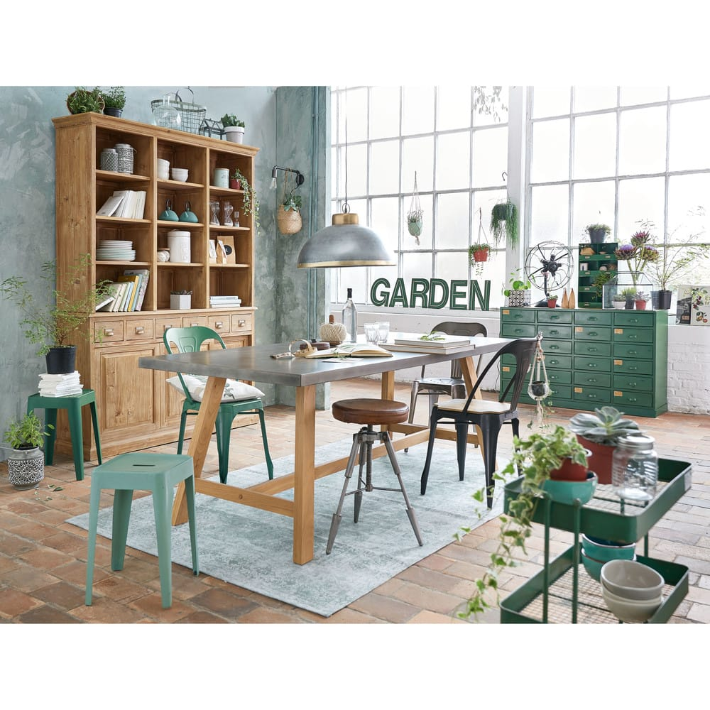cache pot en m tal vert suspendu mint maisons du monde. Black Bedroom Furniture Sets. Home Design Ideas