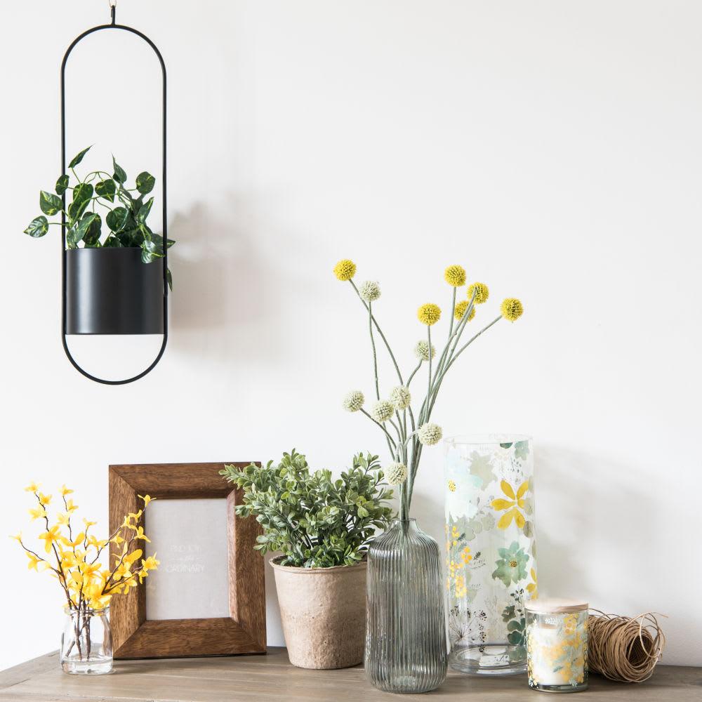 cache pot suspendu en m tal noir h55 design maisons du monde. Black Bedroom Furniture Sets. Home Design Ideas