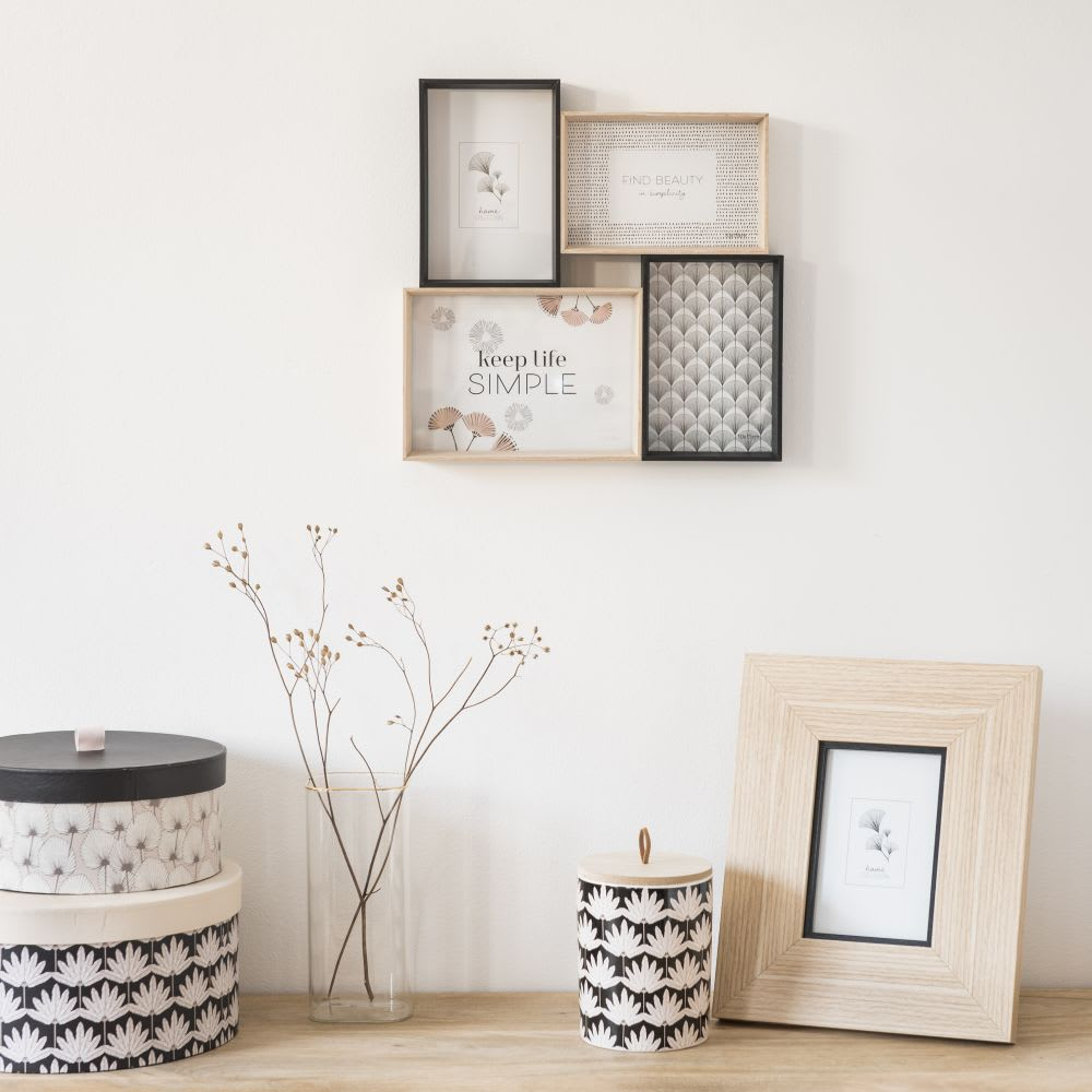 cadre multivues 4 photos 30x30 maisons du monde. Black Bedroom Furniture Sets. Home Design Ideas