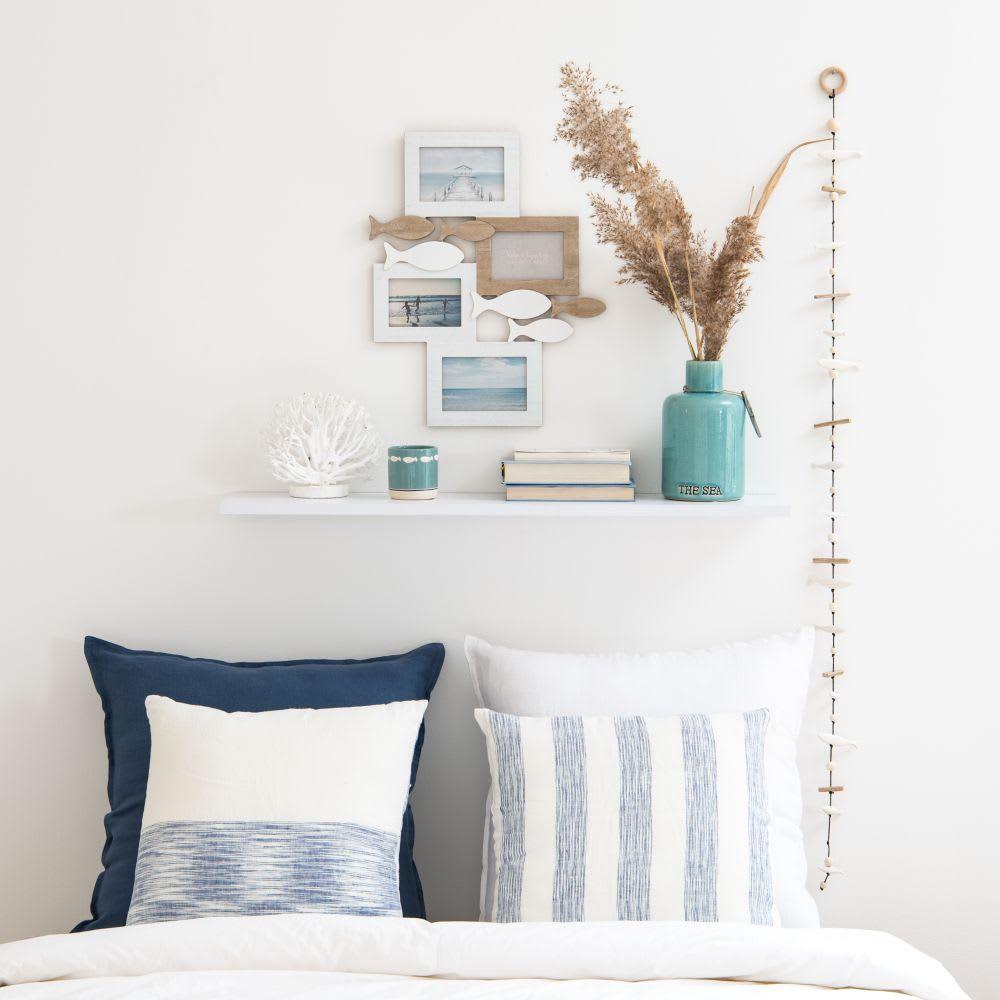 cadre multivues 4 photos marron et blanc 39x48 fish. Black Bedroom Furniture Sets. Home Design Ideas