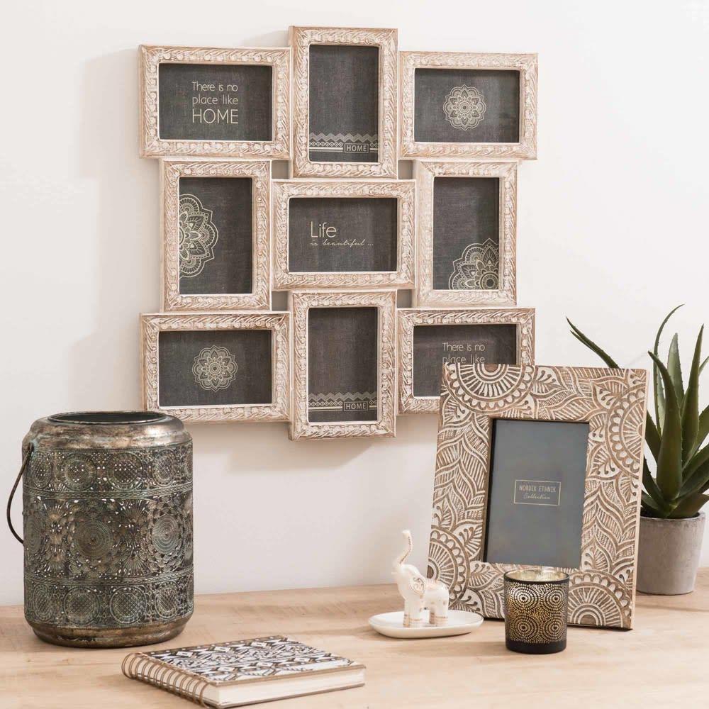 cadre photo 13x18 en manguier sculpt carving maisons du. Black Bedroom Furniture Sets. Home Design Ideas