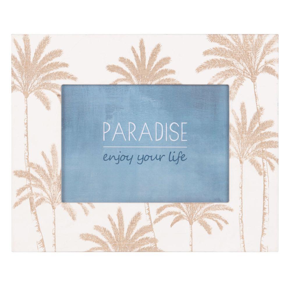 cadre photo imprim palmiers 13x18 maisons du monde. Black Bedroom Furniture Sets. Home Design Ideas