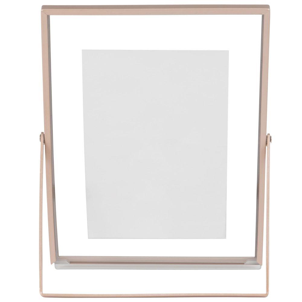 cadre photo m tal rose dor 10x15 pink gold maisons du monde. Black Bedroom Furniture Sets. Home Design Ideas