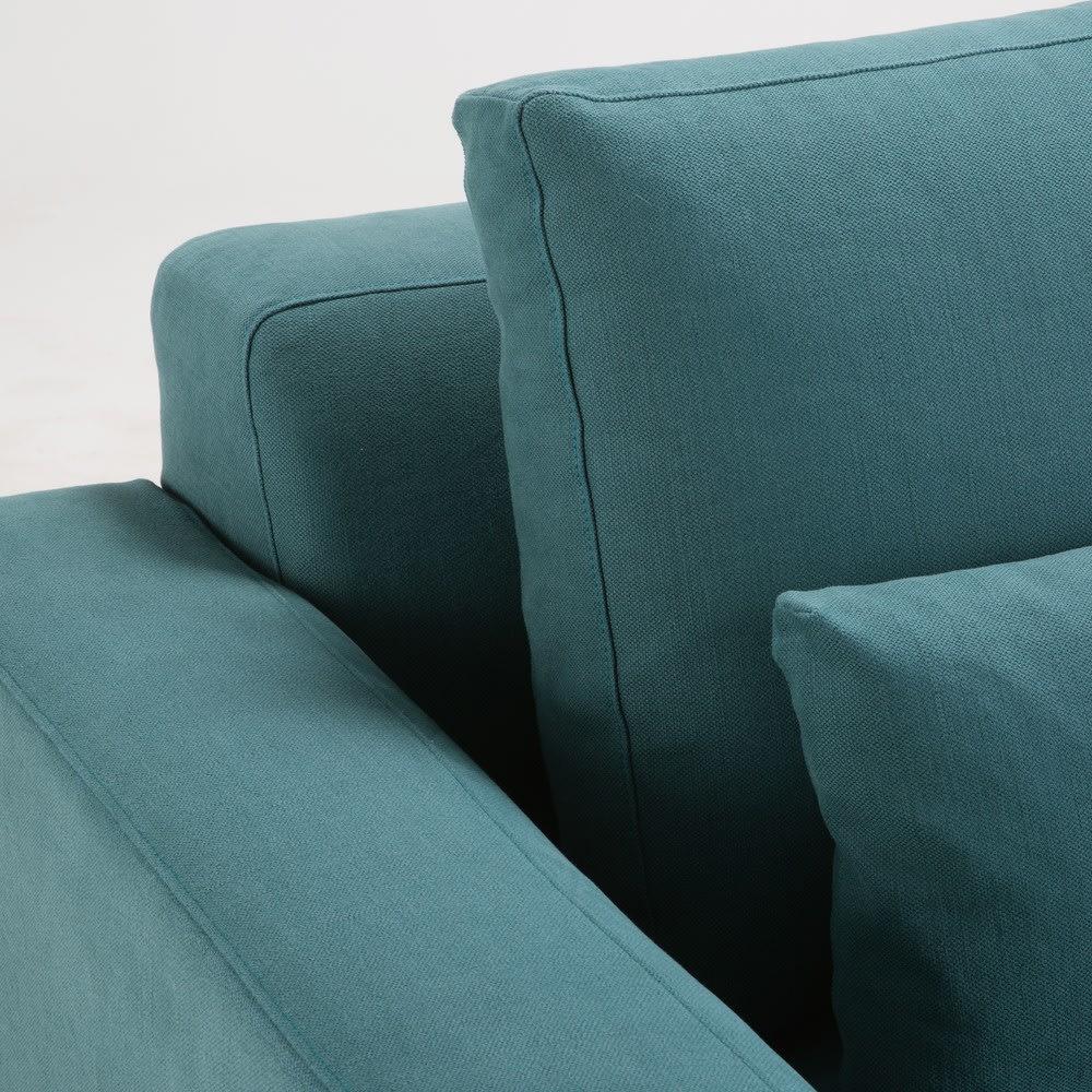 canap 2 3 places en coton et lin bleu canard portland. Black Bedroom Furniture Sets. Home Design Ideas