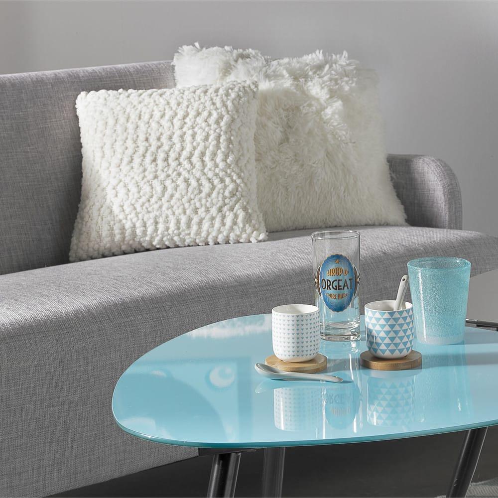 canap 2 places gris clair adam maisons du monde. Black Bedroom Furniture Sets. Home Design Ideas