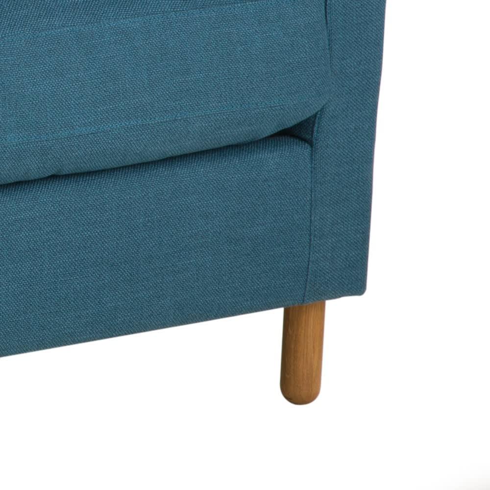 canap 3 places bleu p trole julian maisons du monde. Black Bedroom Furniture Sets. Home Design Ideas