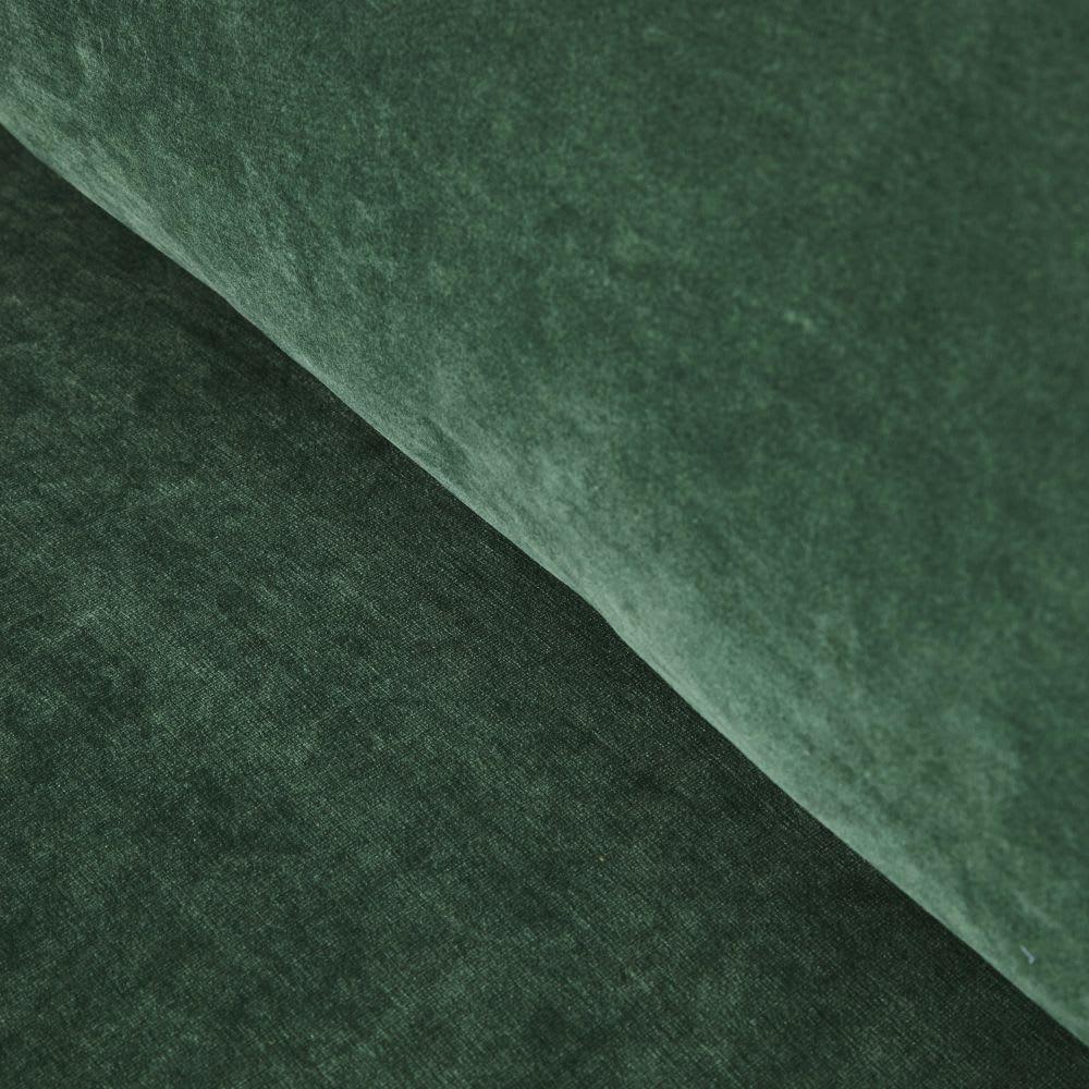 Canapé 3 places en velours vert Giulia   Maisons du Monde