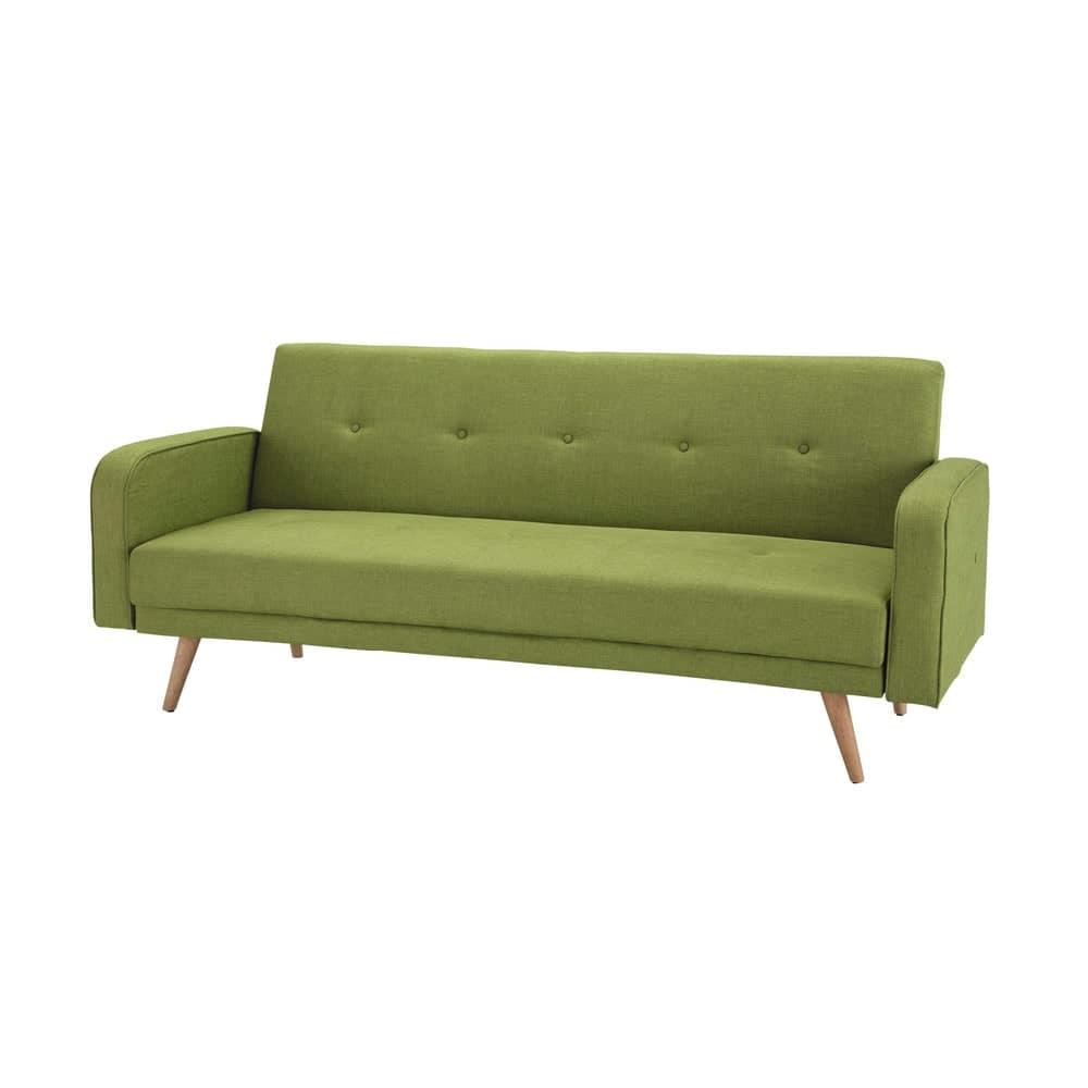 canap clic clac 3 places vert anis broadway maisons du. Black Bedroom Furniture Sets. Home Design Ideas
