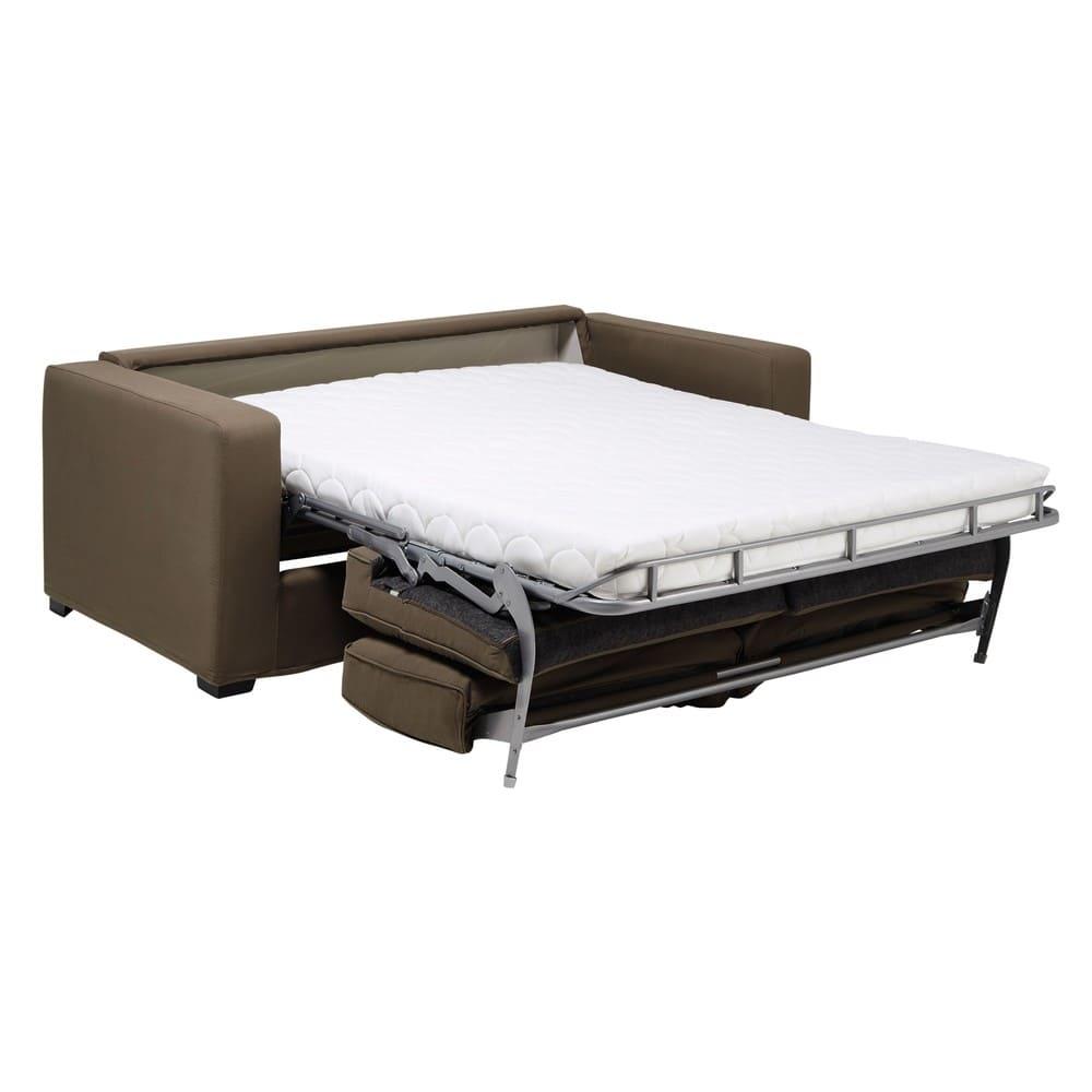 canap convertible 2 3 places gris clair matelas 12 cm. Black Bedroom Furniture Sets. Home Design Ideas