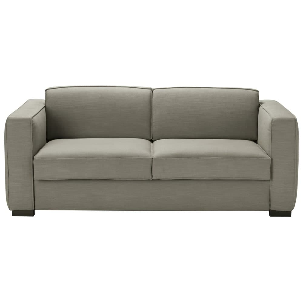 canap convertible 3 places gris clair berlin maisons du. Black Bedroom Furniture Sets. Home Design Ideas