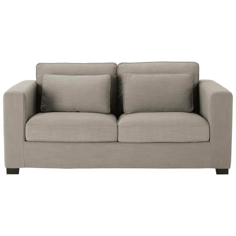 canap convertible 3 places gris clair matelas 6 cm. Black Bedroom Furniture Sets. Home Design Ideas