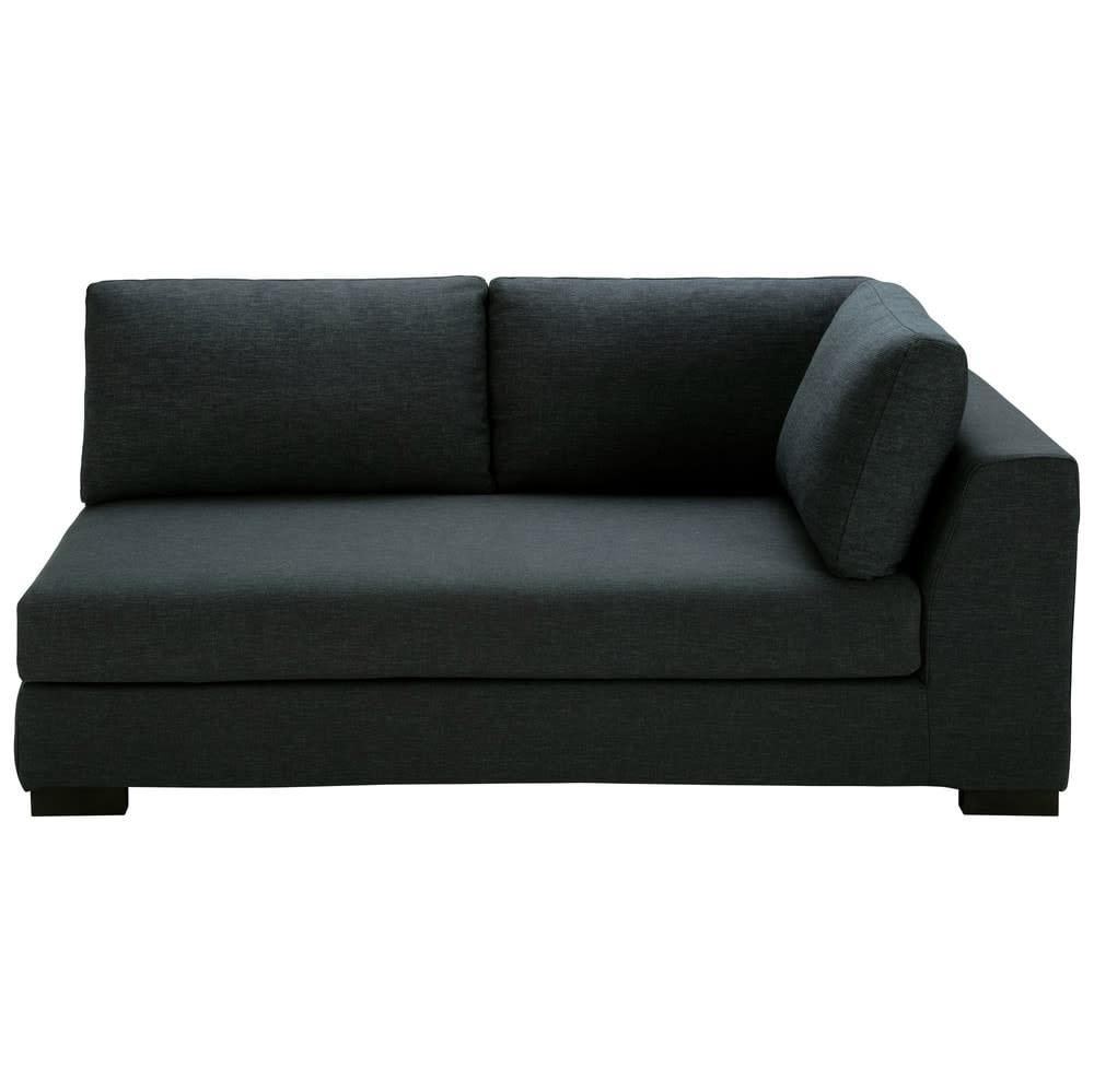 canap convertible modulable accoudoir droit gris anthracite terence maisons du monde. Black Bedroom Furniture Sets. Home Design Ideas