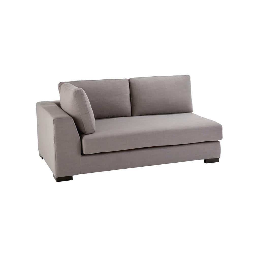 canap convertible modulable accoudoir gauche gris clair terence maisons du monde. Black Bedroom Furniture Sets. Home Design Ideas