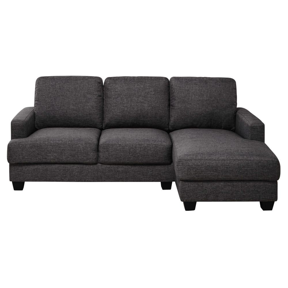 canap d 39 angle droit 3 4 places gris chin philadelphie maisons du monde. Black Bedroom Furniture Sets. Home Design Ideas