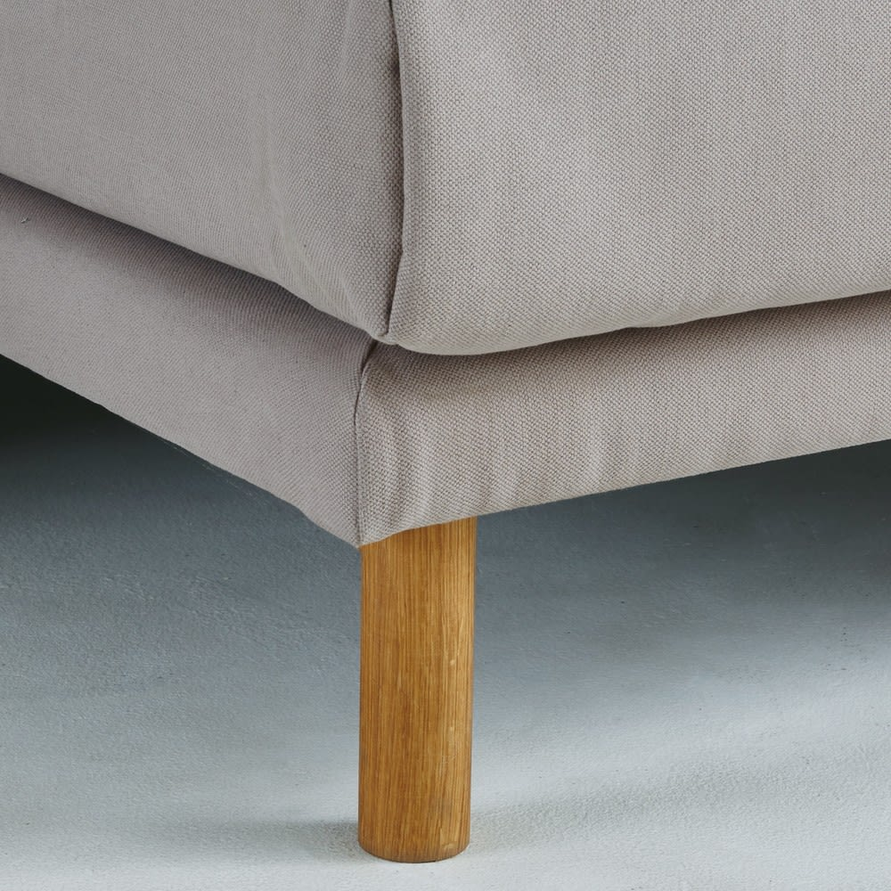 canap d 39 angle droit 5 places en coton et lin gris clair. Black Bedroom Furniture Sets. Home Design Ideas