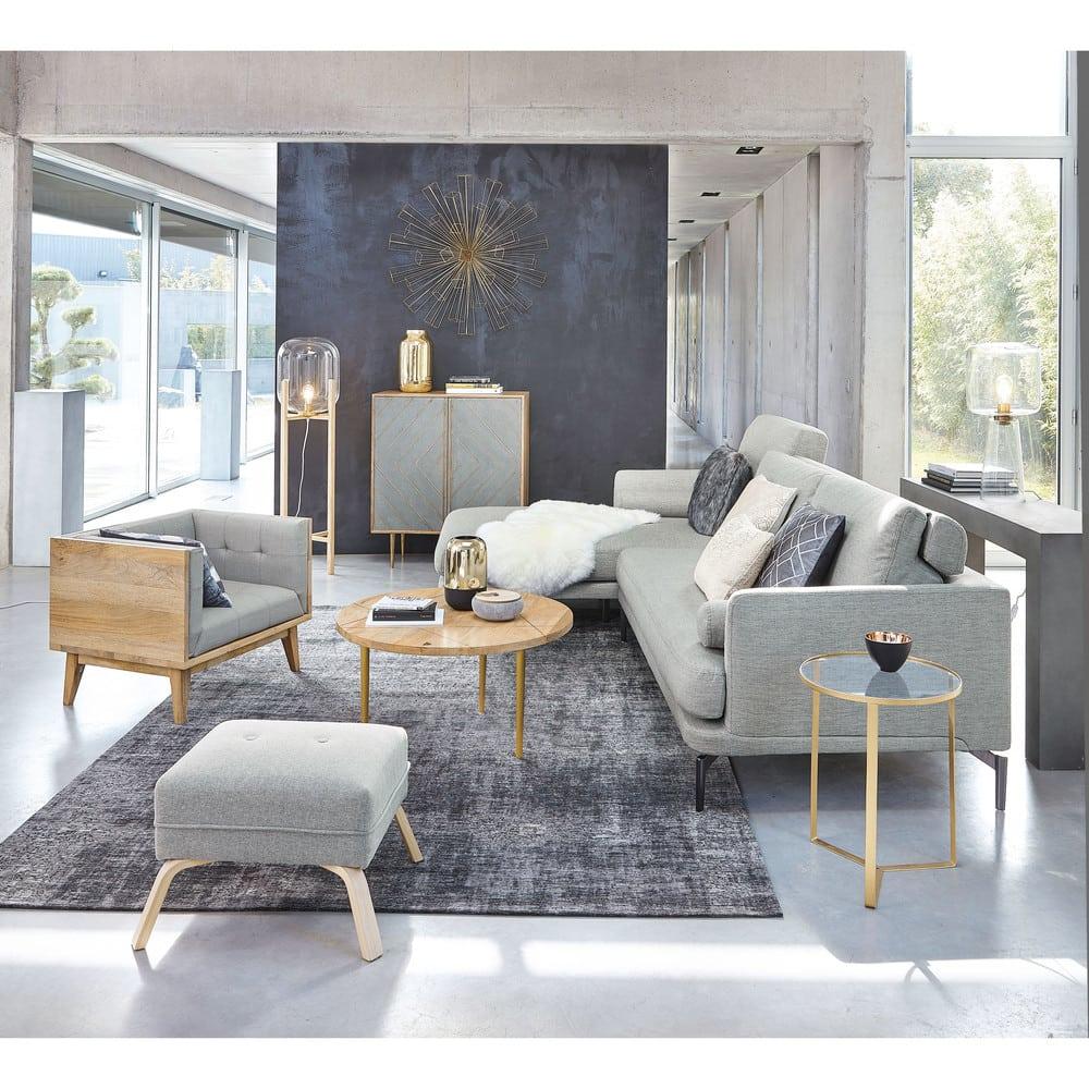 canap d 39 angle gauche 5 places gris clair alaska maisons. Black Bedroom Furniture Sets. Home Design Ideas