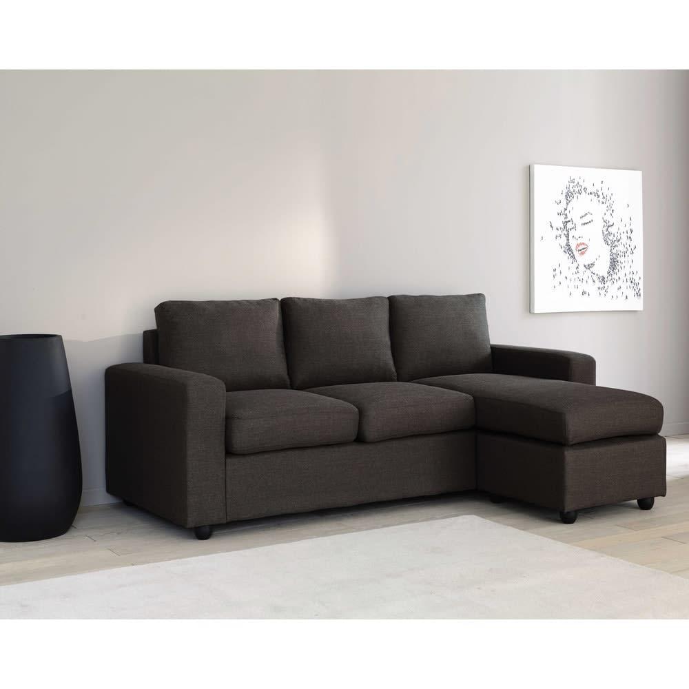 canap d 39 angle modulable 3 places gris jules maisons du. Black Bedroom Furniture Sets. Home Design Ideas