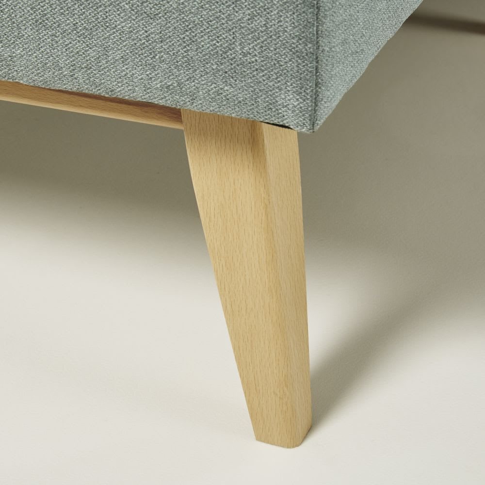 Canapé d'angle modulable style scandinave 4/5 places vert ...