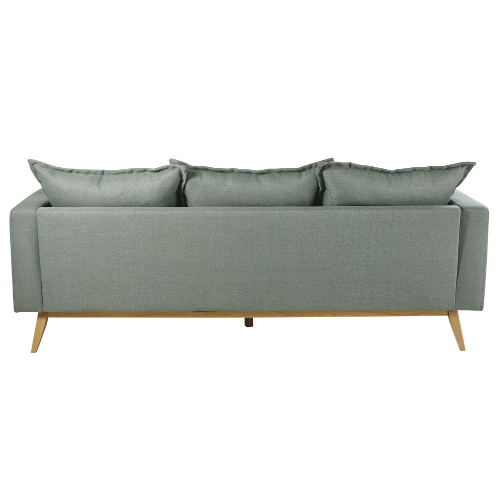 Canap d 39 angle modulable style scandinave 4 5 places vert - Canape d angle style scandinave ...