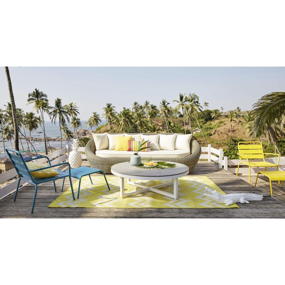 canap de jardin 3 4 places en r sine tress e st rapha l maisons du monde. Black Bedroom Furniture Sets. Home Design Ideas