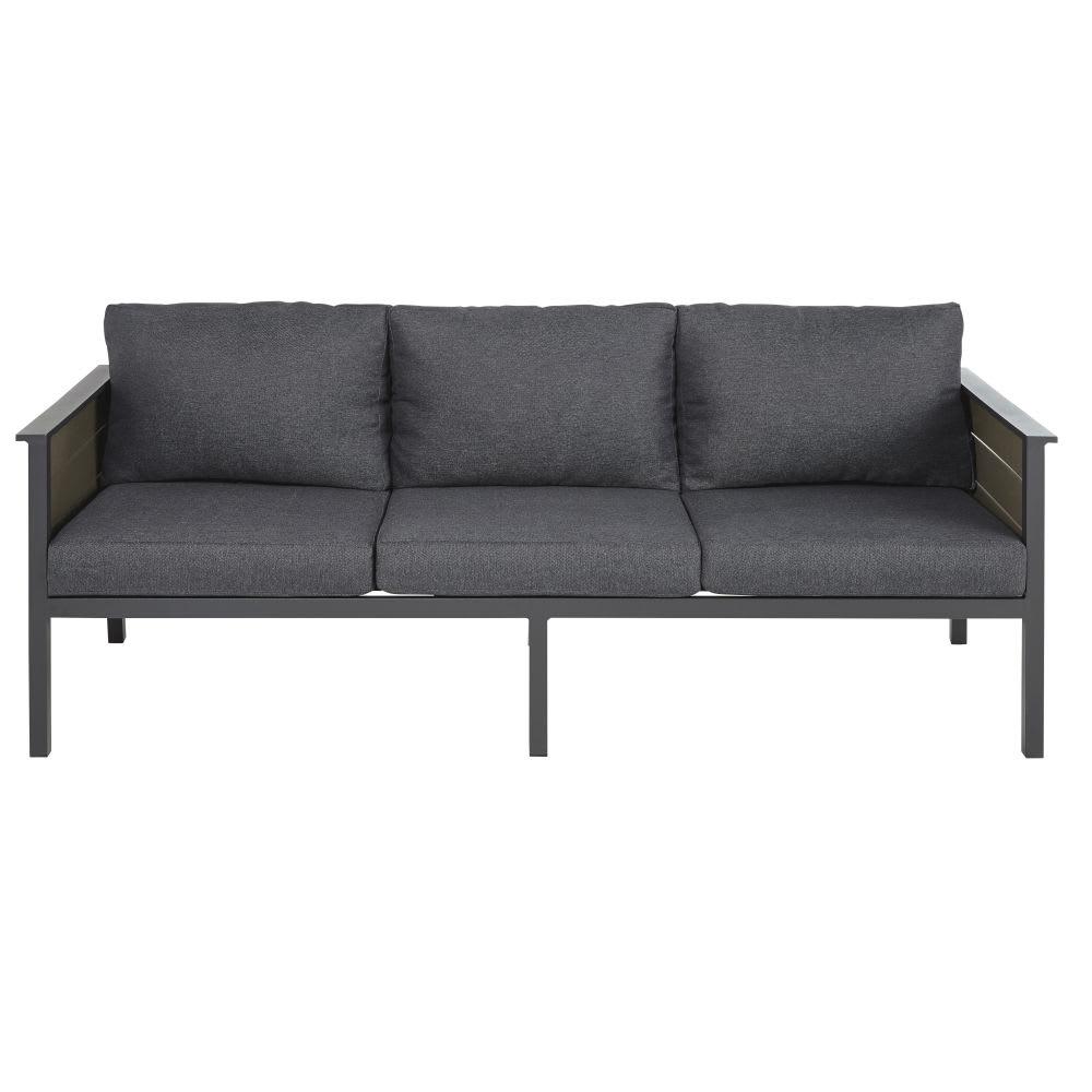 canap de jardin 3 places en aluminium gris anthracite. Black Bedroom Furniture Sets. Home Design Ideas