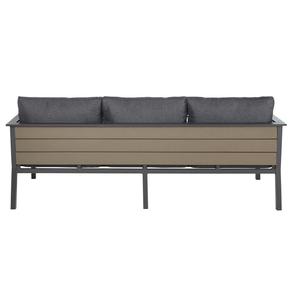 canap de jardin 3 places en aluminium gris anthracite escale maisons du monde. Black Bedroom Furniture Sets. Home Design Ideas