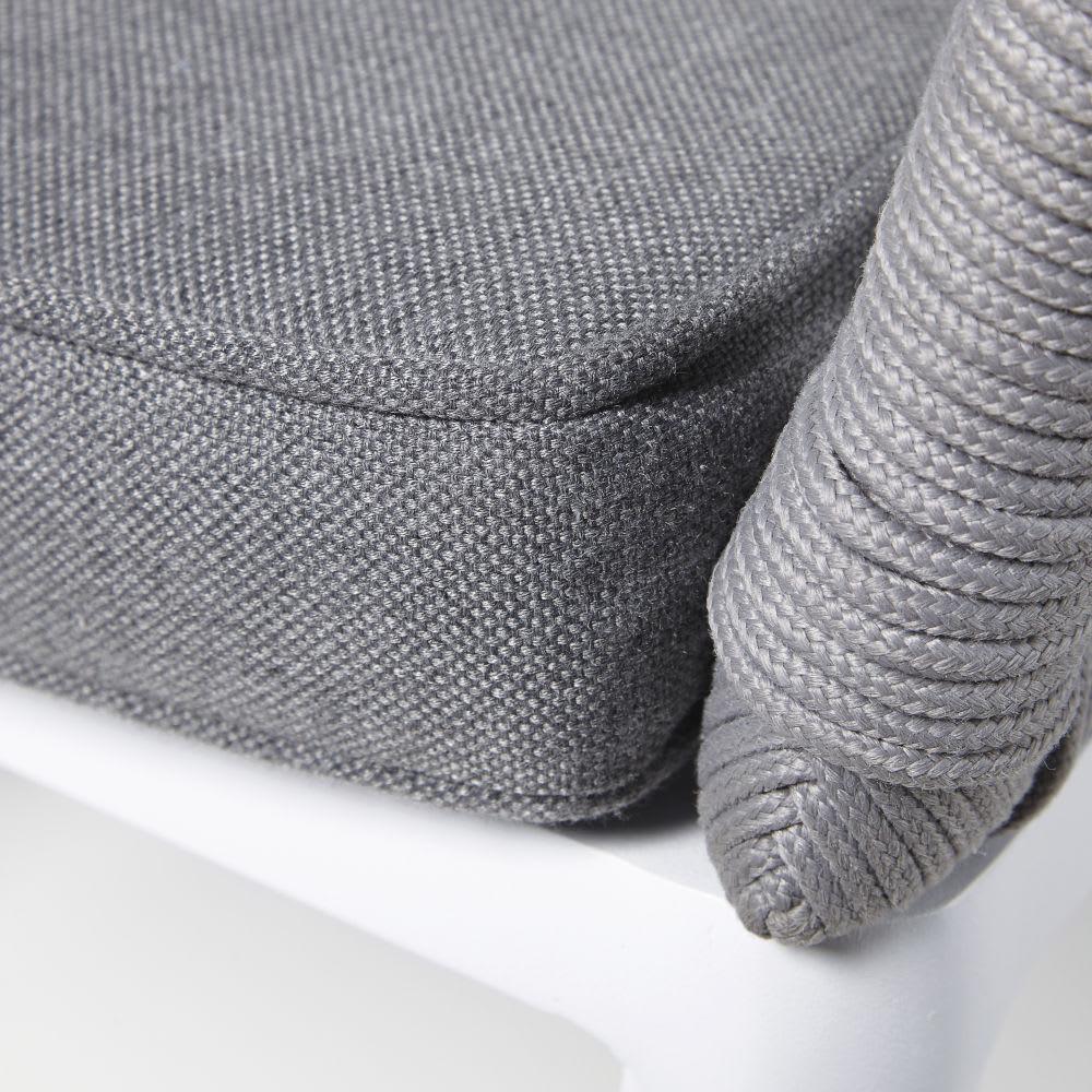 canap de jardin 3 places en corde tress e grise endoume. Black Bedroom Furniture Sets. Home Design Ideas