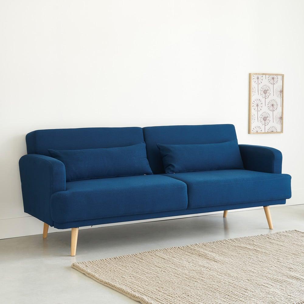 Canapé-lit 3 places bleu roi Elvis | Maisons du Monde