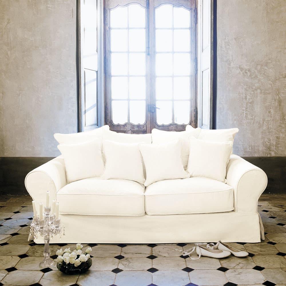 canap lit 3 places en coton ivoire bastide maisons du monde. Black Bedroom Furniture Sets. Home Design Ideas