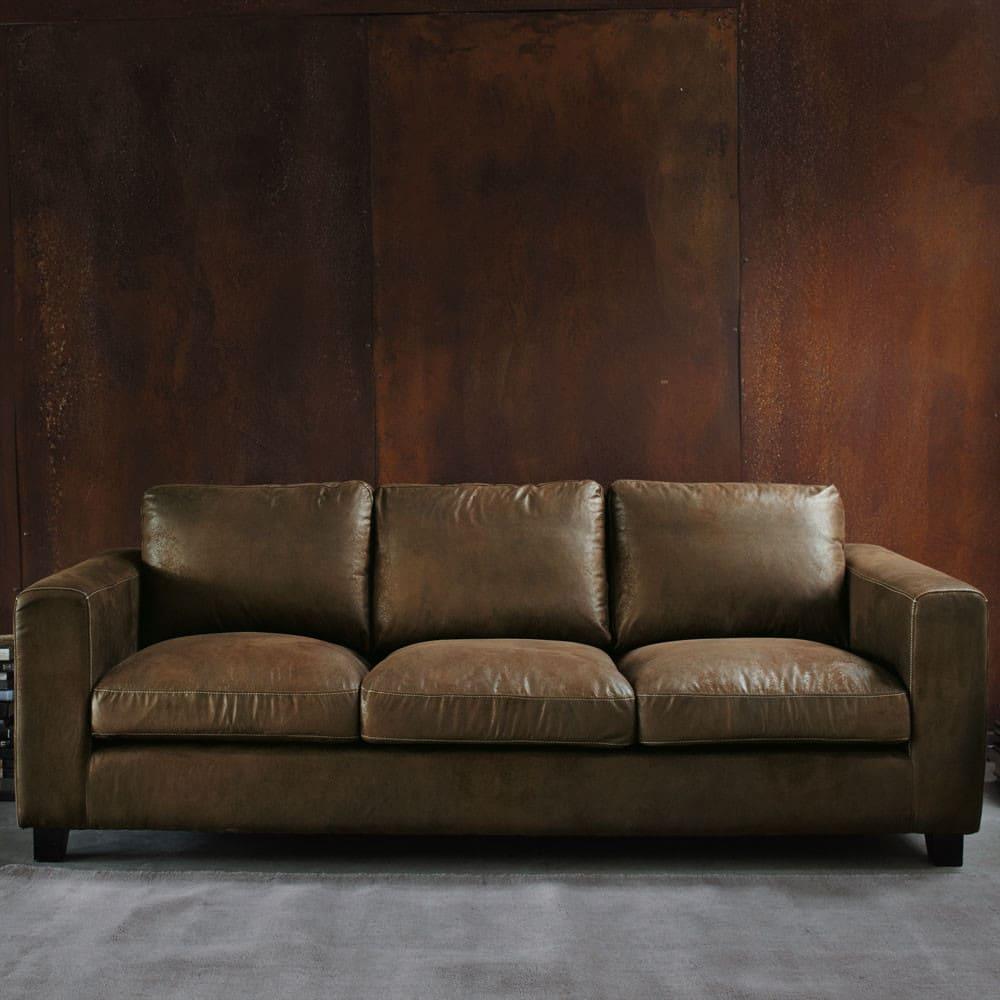 canap lit 3 places en su dine marron kennedy maisons du monde. Black Bedroom Furniture Sets. Home Design Ideas