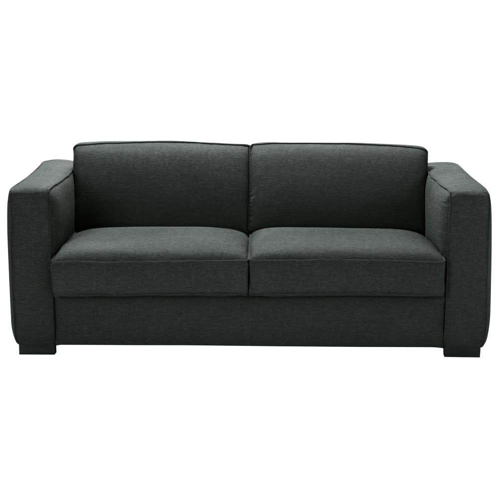 canap lit 3 places gris anthracite berlin maisons du monde. Black Bedroom Furniture Sets. Home Design Ideas