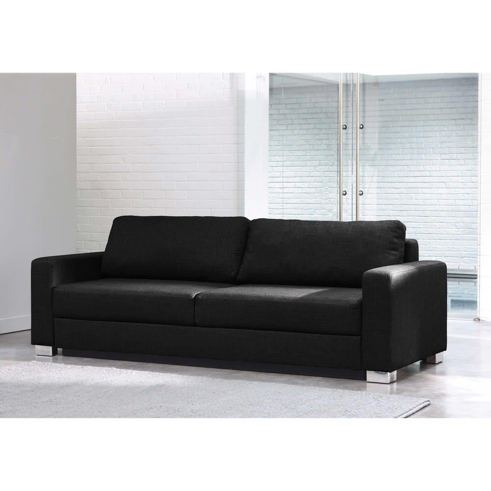 canap lit 3 places gris anthracite urban maisons du monde. Black Bedroom Furniture Sets. Home Design Ideas