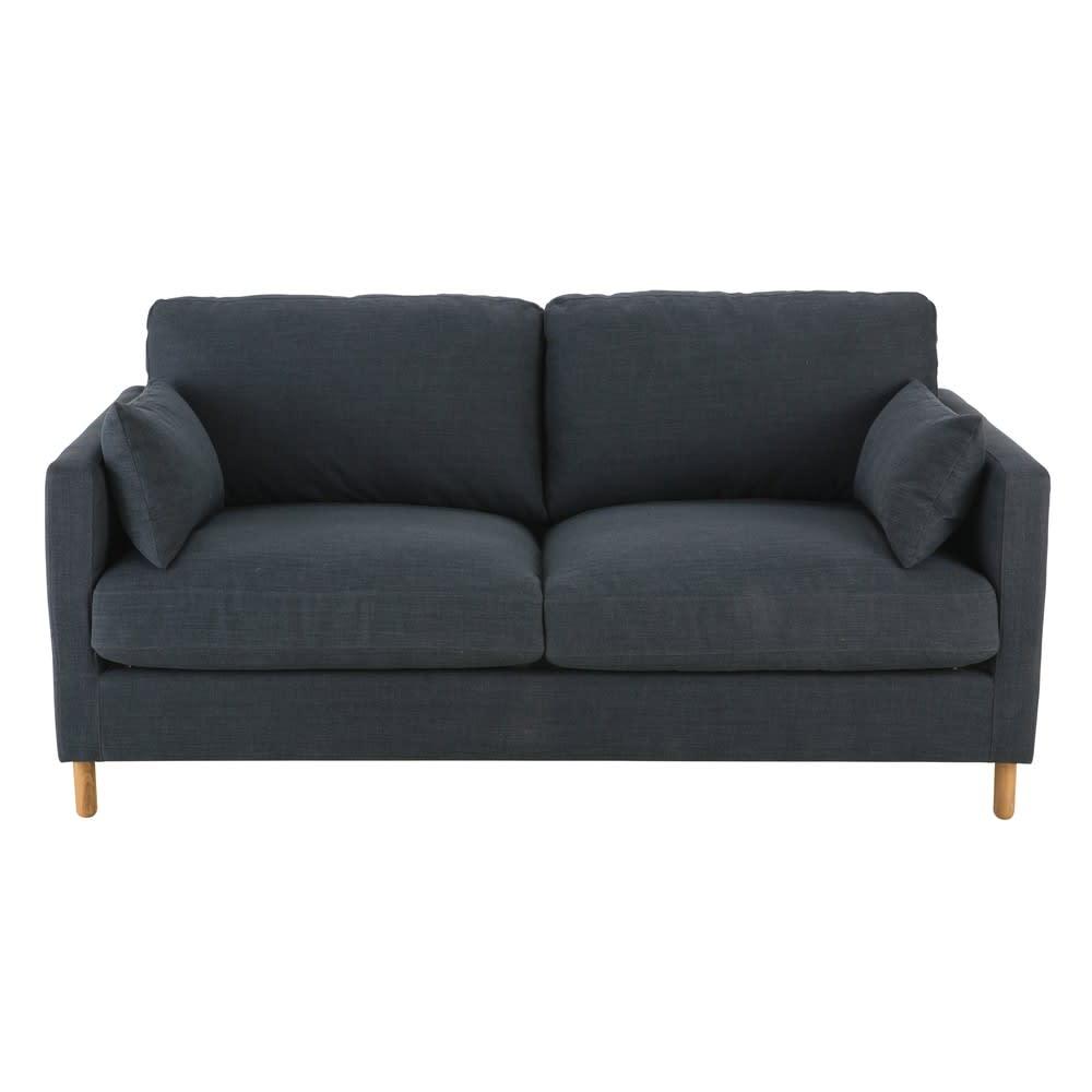Canapé-lit 3 places gris anthracite Julian | Maisons du Monde