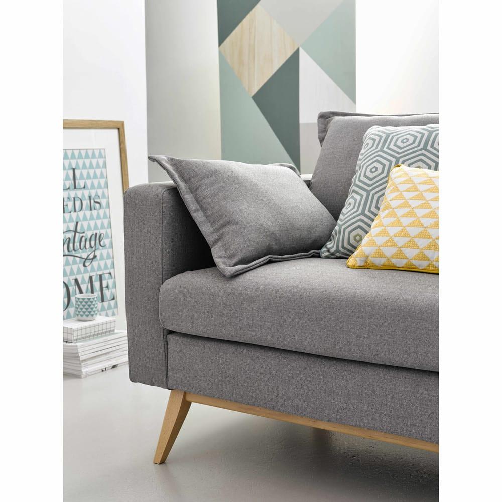 canap lit 3 places gris clair duke maisons du monde. Black Bedroom Furniture Sets. Home Design Ideas