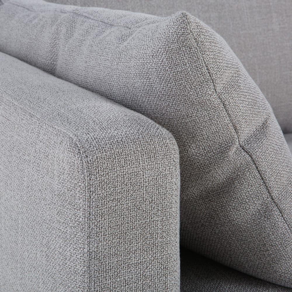 canap lit 3 places gris clair julian maisons du monde. Black Bedroom Furniture Sets. Home Design Ideas