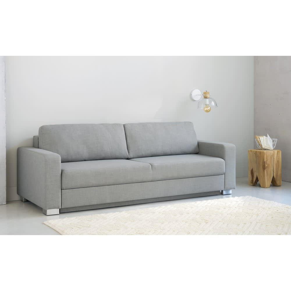 canap lit 3 places gris clair urban maisons du monde. Black Bedroom Furniture Sets. Home Design Ideas