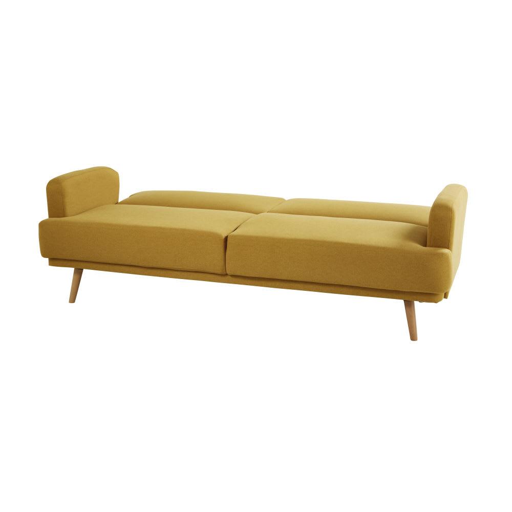 canap lit 3 places jaune moutarde elvis maisons du monde. Black Bedroom Furniture Sets. Home Design Ideas