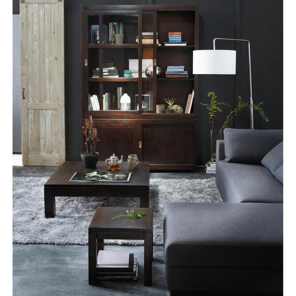 canap modulable accoudoir gauche en coton gris ardoise. Black Bedroom Furniture Sets. Home Design Ideas