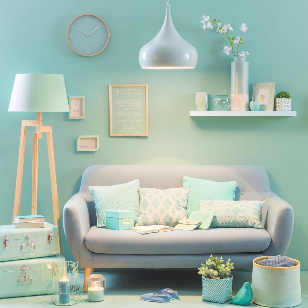 canap style scandinave 2 3 places bleu iceberg maisons du monde. Black Bedroom Furniture Sets. Home Design Ideas